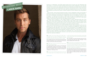 Interview with Lance Bass