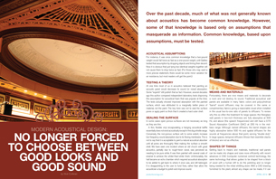 Modern Acoustical Design: No Longer Forced to Choose Between Good Looks and Good Sound
