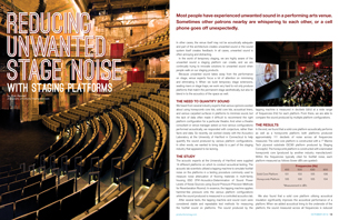 Reducing Unwanted Stage Noise with Staging Platforms